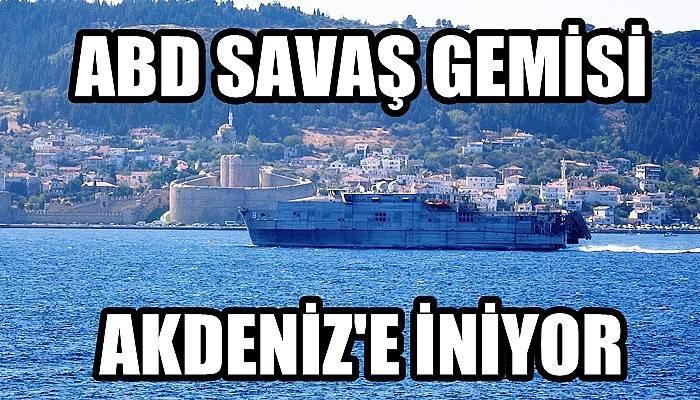 ABD savaş gemisi Akdeniz'e iniyor (VİDEO)