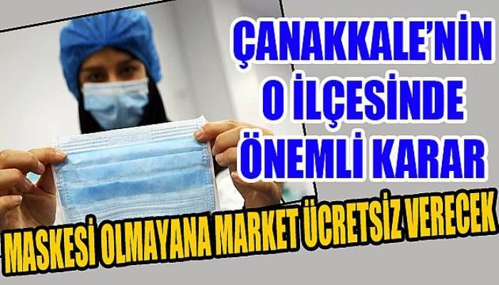 Maskesi olmayana market ücretsiz verecek!