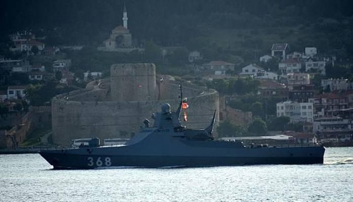 Rus devriye gemisi 'Vasily Bykov' Akdeniz'e iniyor (VİDEO)