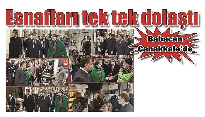 DEVA Partisi Genel Başkanı Babacan Çanakkale'ye geldi