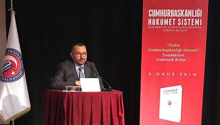 Erim, Çanakkalelilere Cumhurbaşkanlığı Hükümet Sistemi'ni anlattı