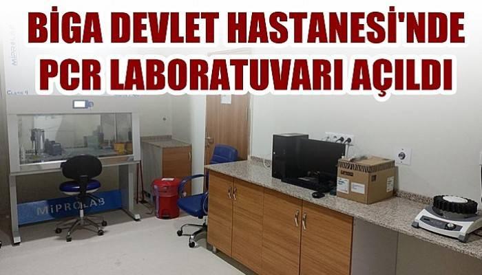 Biga Devlet Hastanesinde PCR laboratuvarı açıldı