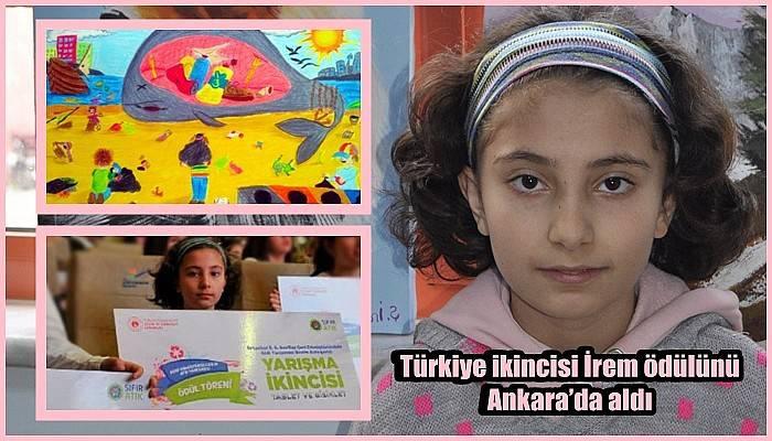 Türkiye ikincisi İrem ödülünü Ankara'da aldı