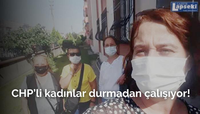 CHP'li kadınlar durmadan çalışıyor!