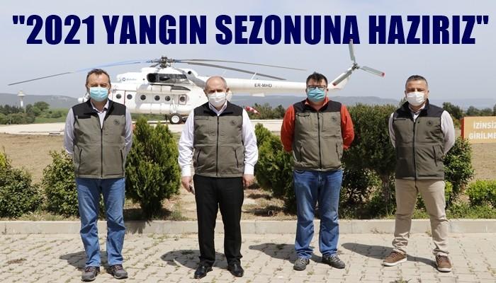 Çanakkale'de yangın helikopteri kullanıma hazır (VİDEO)