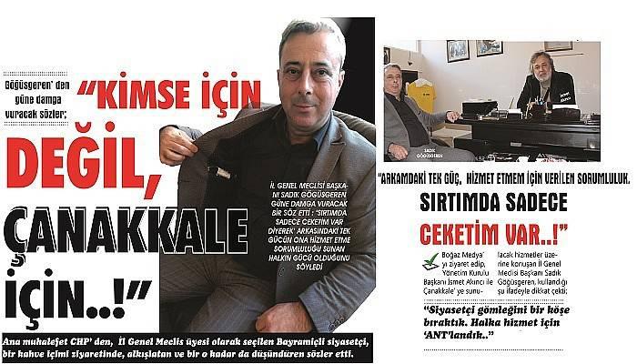 """""""ÇANAKKALELİYE HİZMET SÖZÜ VERDİK, TUTMAK İÇİN NE GEREKİRSE..!"""""""