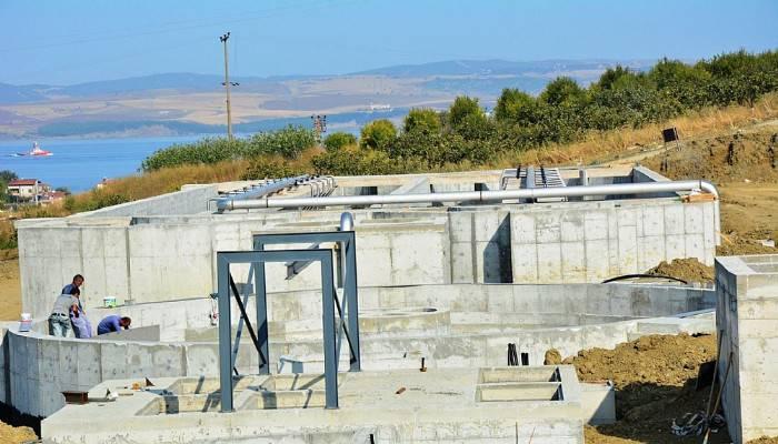 Lapseki Atık Su Arıtma Tesisi çalışmaları tamamlanıyor