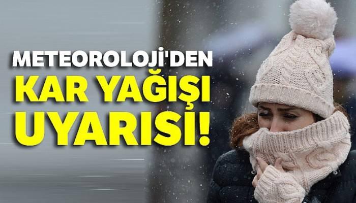 Meteoroloji'den kar yağışı uyarısı! 28 Kasım yurtta hava durumu