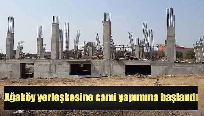 Ağaköy yerleşkesine cami yapımına başlandı