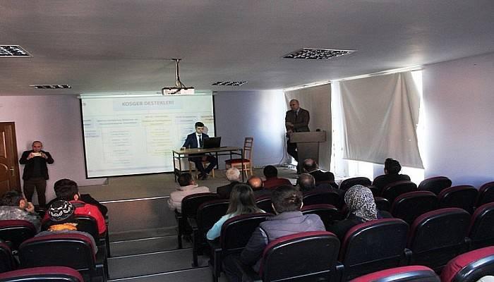 KOSGEB Çanakkale İl Müdürlüğü Gökçeada toplantı yaptı