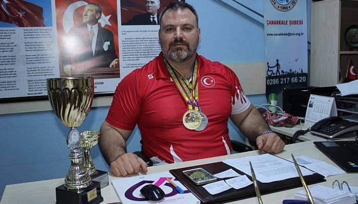 Çanakkaleli engelli sporcu Avrupa şampiyonu