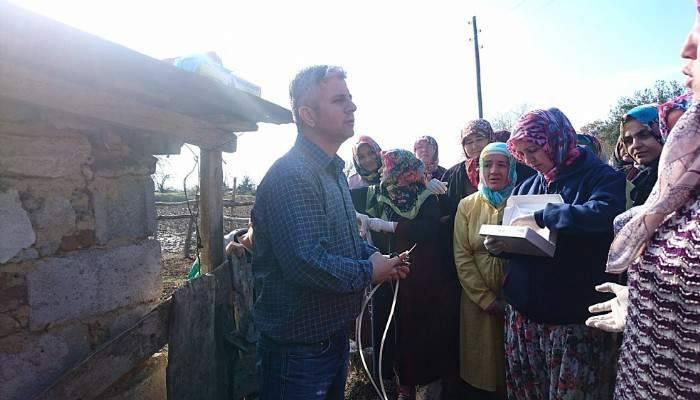 Köylü kadınlara süt sığırcılığı ve sürü yönetimi kursu