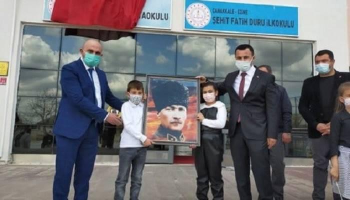 Atatürk'ün Ezine'ye Gelişinin 87.Yıldönümü Törenle Kutlandı