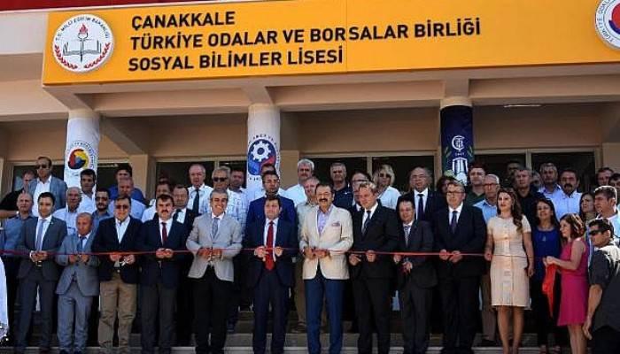 TOBB Başkanı Hisarcıklıoğlu Çanakkale'de (VİDEO)