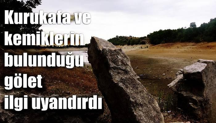 Göletin yanında eski mezarlık olduğunu duyan soluğu o köyde aldı (VİDEO)