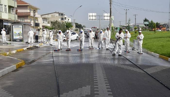 Biga Sokakları Dezenfekte Edildi