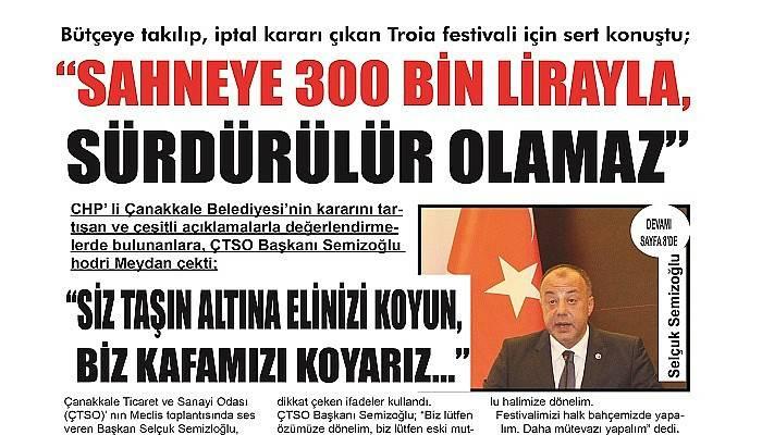 """""""SAHNEYE 300 BİN LİRAYLA, SÜRDÜRÜLÜR OLAMAZ"""""""
