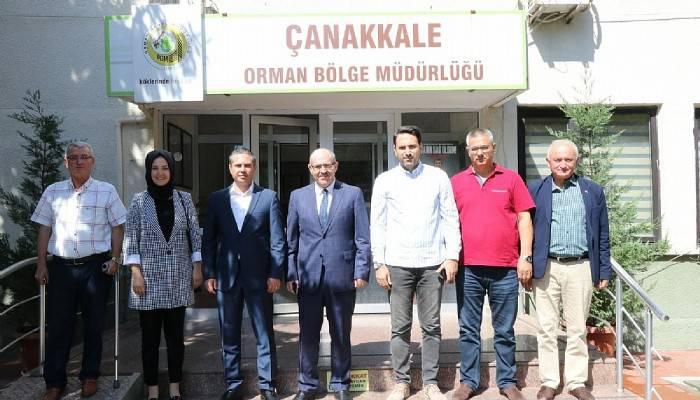 AK Parti Çanakkale teşkilatından Orman Bölge Müdürü Demirci'ye ziyaret