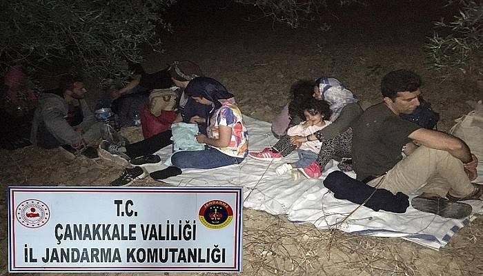 Çanakkale'de 73 kaçak göçmen yakalandı (VİDEO)