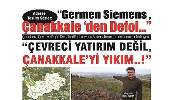 """Adrese Teslim Sözler: """"Germen Siemens , Çanakkale 'den Defol..."""""""