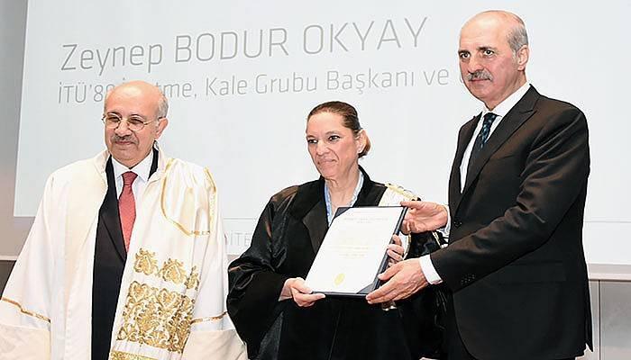 İTÜ'den, Zeynep Bodur Okyay'a Fahri Doktora