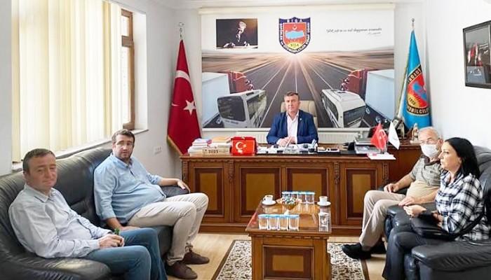 AHİLİK HAFTASI NEDENİYLE CHP'DEN ŞOFÖRLER ODASINA ZİYARET