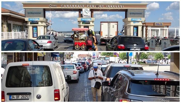 Çanakkale'de tatilcilerin dönüş yoğunluğu sürüyor (VİDEO)