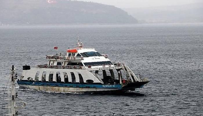 Gökçeada'ya bazı feribot seferleri iptal edildi (VİDEO)