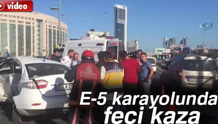 Şişli E-5 Karayolu'nda zincirleme kaza : 2 Yaralı