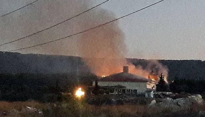 Açık Cezaevinde yangın paniği (VİDEO)