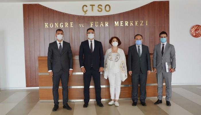 İş Sağlığı Ve Güvenliği Genel Müdür Yardımcısı Yıldız ÇTSO'yu ziyaret etti