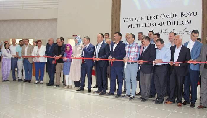 Çan belediyesi istiklal düğün salonu hizmete açıldı