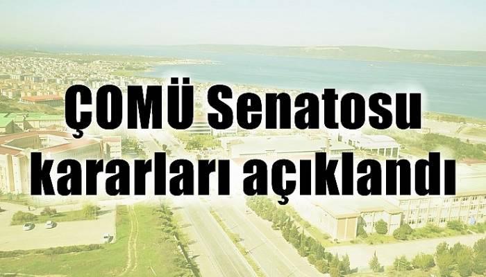 ÇOMÜ Senatosu kararları açıklandı