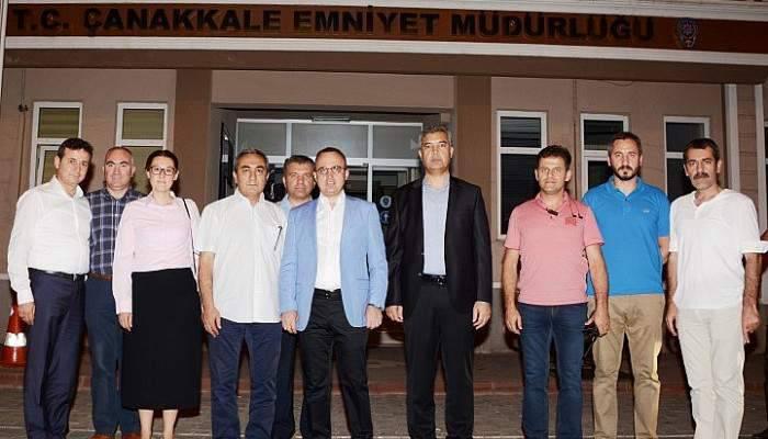 Turan'dan Çanakkale Emniyet Müdürlüğü'ne Ziyaret