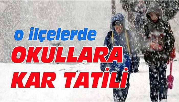 Yenice, Çan ve Ayvacık'ta Cuma günü okullar tatil