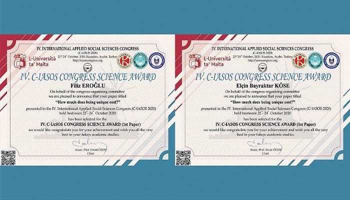 ÇOMÜ'lü Akademisyenlerin Kongredeki Bildirisi Ödül Getirdi