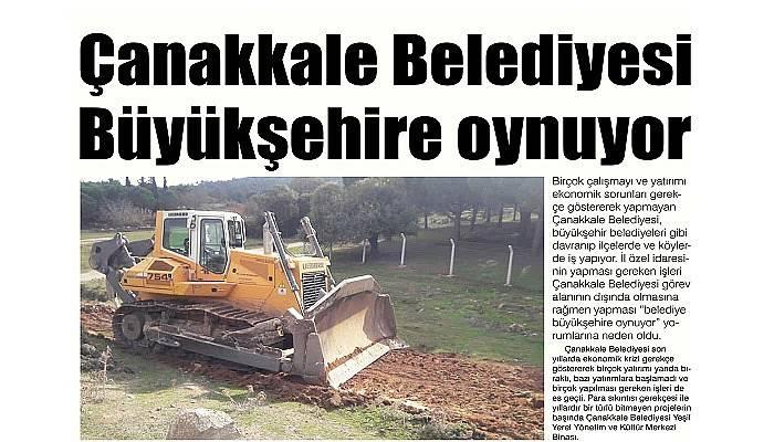 Çanakkale Belediyesi Büyükşehre oynuyor