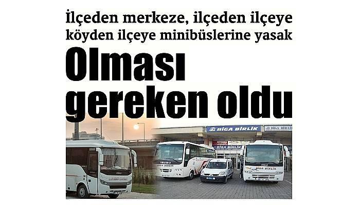 İlçe ve köy minibüslerine yasak