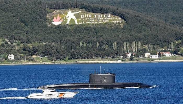 Rus denizaltı 'Kolpino', Çanakkale Boğazı'ndan geçti (VİDEO)