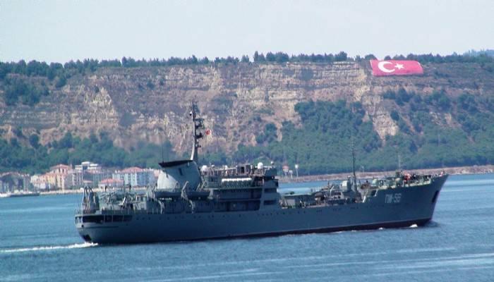Amerikan savaş gemisi Çanakkale Boğazı'ndan geçti (VİDEO)