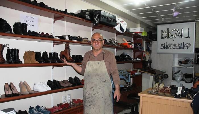 Eski ayakkabılara yeniden hayat veriyor (VİDEO)