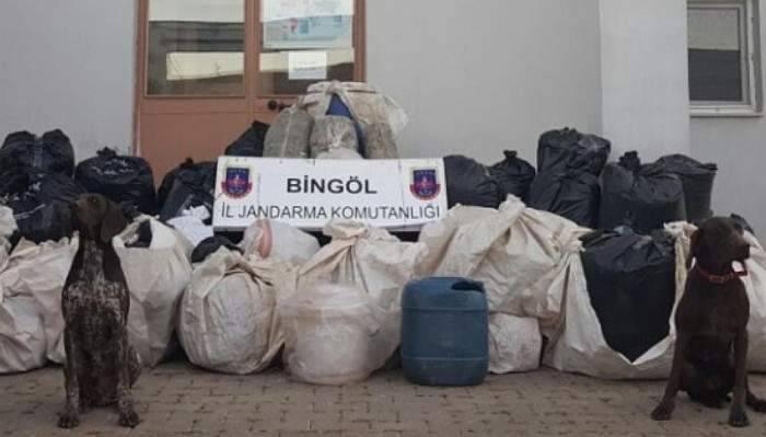 Bingöl'de 7 milyon değerinde esrar ele geçirildi