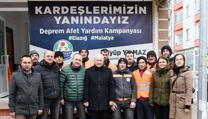 Yardım Tırı Lapseki'den yola çıktı (VİDEO)