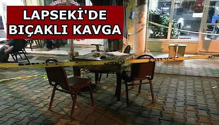 Lapseki'de Bıçaklı Kavga