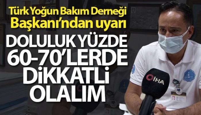 Türk Yoğun Bakım Derneği Başkanı'ndan uyarı: 'Doluluk yüzde 60-70'lerde, dikkatli olalım' (VİDEO)
