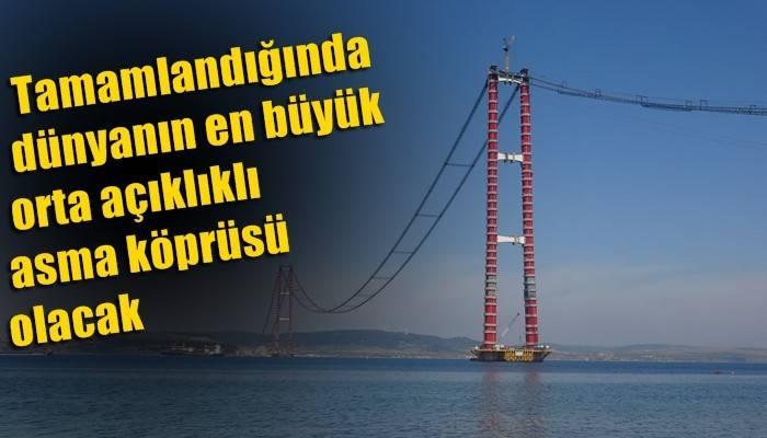 1915 Çanakkale Köprüsü'nde ana kabloların montajı tüm hızıyla devam ediyor (VİDEO)