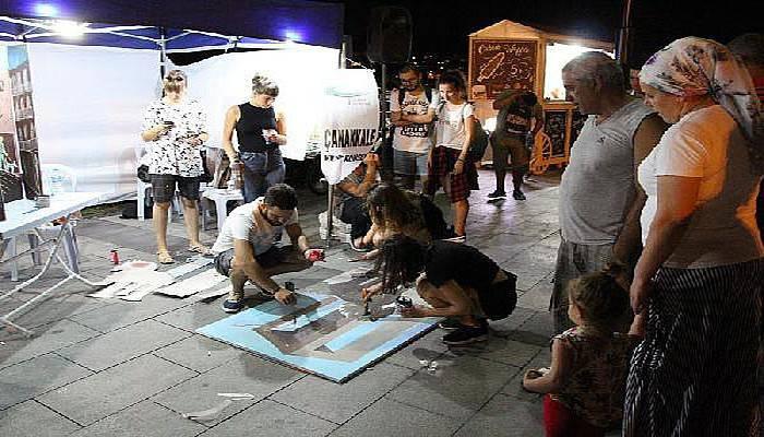 Çanakkale'de Sokak Sanatta-3 etkinliği sürüyor
