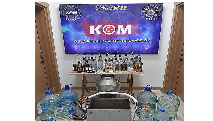 Çanakkale'de sahte içki operasyonu: 1 tutuklama