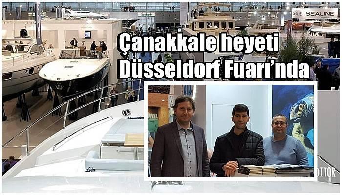 Çanakkale heyeti Düsseldorf Fuarı'nda
