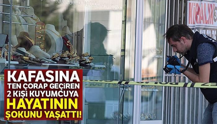 Antalya'da çorapla kuyumcu soyan hırsız 3 kilo altınla yakalandı